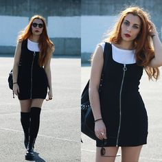 Pull & Bear Dress, Dr. Martens Chunky Boots