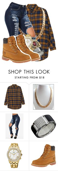 """""""Untitled #2094"""" by kayla77johnson ❤ liked on Polyvore featuring Monki, Chaumet, Seiko and Timberland"""