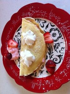 Strawberries seem to be the theme for recipes I'm seeing lately.