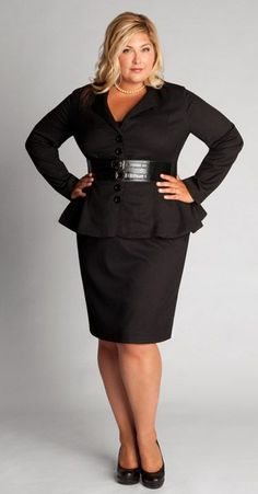 Black Style:Plus Size Skirt and Shirt