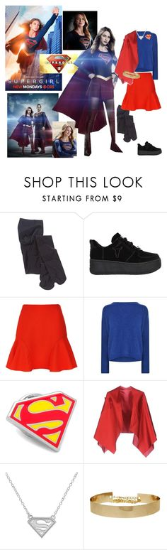 """""""Supergirl"""" by allyssister ❤ liked on Polyvore featuring Windsor Smith, Victoria, Victoria Beckham, By Malene Birger, Cufflinks, Inc. and Rosé a Pois"""