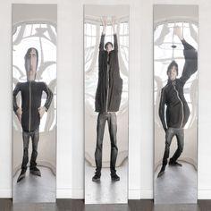 DISTORTING MIRROR Hall mirror by VIDAME CREATION design Julien Vidame