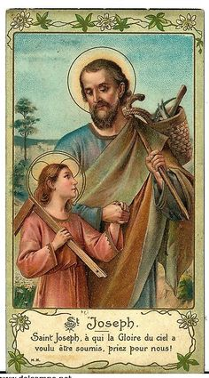 "Translation: ""St. Joseph. Saint Joseph, to whom the Glory of heaven wanted to submit Himself, pray for us!"" ~ This concise phrase speaks volumes of the sanctity and character of St. Joseph; if God Himself chose Joseph from all men to serve as His own father on earth, to whom He would be submissive (as a righteous child is to his father), how holy must Joseph have been? St. Joseph, pray for us! Amen. St Joseph Prayer, Saint Joseph, Catholic Saints, Roman Catholic, San Jose, St Josephs Day, Sacred Heart Tattoos, Son Of David, Catholic Pictures"