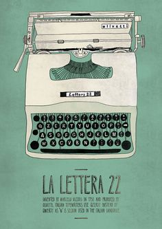 Designer/illustrator Emily Isles created this series of posters, Italian Inventions as a self-initiated project. The idea for the series came about as a result of her experience studying and working in Italy, where she was inspired by these objects.
