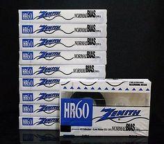 ZENITH HR-60 Blank Audio Cassette Tape Normal Bias 60 Minutes - 10 Packs SEALED