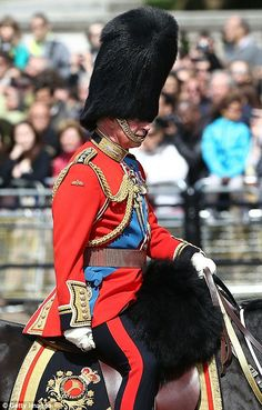 As Colonel of the regiment trooping its colour this year, the Prince of Wales was present and inspected the troops on parade.
