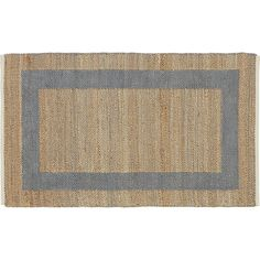 double text grey rug | CB2 - 6'x9' - $225 special for a limited time (neutral option)