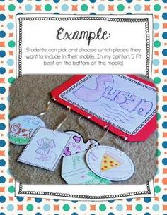 """All about ME mobile! Perfect art project for a back to school night or open house. Just one of many activities in this """"All About ME!"""" unit"""