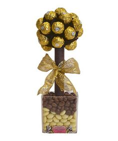 Ferrero Rocher sweet tree by Sweet trees on secretsales.com Edible Centerpieces, Wedding Table Centerpieces, Christmas Centerpieces, Centrepieces, Ferrero Rocher Tree, Ferrero Rocher Bouquet, Christmas 2019, Christmas Shopping, Christmas Ideas