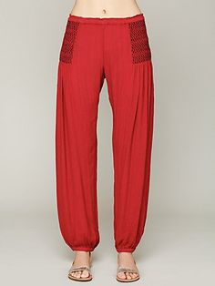 Leighanna Smocked Pant. Cozy pants!