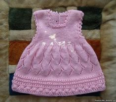 For the little ones with their own hands – pages … - Makerist Knitting For Kids, Baby Knitting Patterns, Crochet For Kids, Baby Patterns, Crochet Baby, Knit Crochet, Knitted Baby, Knit Baby Dress, Baby Cardigan