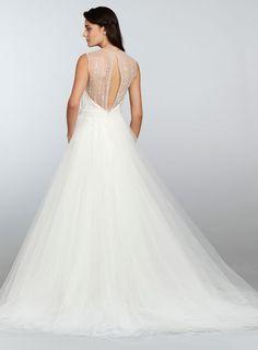 Tara Keely Bridal Organza Trumpet Gown A Line Tulle Beaded Sweetheart Neck Belt Natural Waist Chapel Train 2302 X11