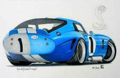 Michele Filoscia Disegni : Shelby Daytona Cobra Coupe Shelby Daytona, Shelby Car, My Dream Car, Dream Cars, Badass Drawings, Factory Five, Honda Element, Carroll Shelby, Ac Cobra