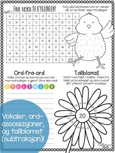 Easter Printable Activity Pages - Malimo Mode Language Activities, Writing Activities, Teaching Math, Teaching Resources, 4th Grade Classroom, Classroom Ideas, Elementary Teacher, Elementary Education, Teacher Blogs