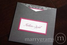 hot pink and grey weddings | like these invites! | Wedding Ideas