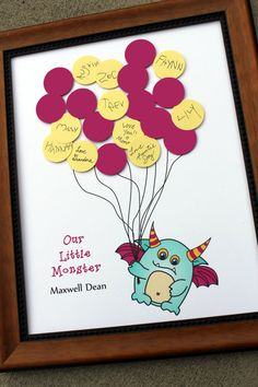Baby Shower or Birthday Party Guest Book by SayAnythingDesign, $39.75