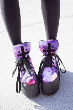 Crystal Asteroids space shoes| Love these sneakers. So one of my favorites this week!