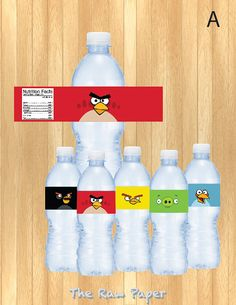 Check out our angry birds water selection for the very best in unique or custom, handmade pieces from our shops. Water Bottle Labels, Spray Bottle, Angry Birds, Birthday Parties, 5th Birthday, Handmade Gifts, Etsy, Teacher, Party Ideas