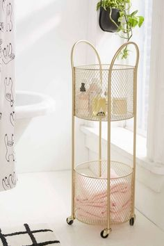 Good storage is an essential part of bathroom design and for a small bathroom you'll need to be clever with what you choose. Keep scrolling to shop the 10 small bathroom storage ideas that we're eyeing in the new Urban Outfitters home catalog. Vinyl Storage, Wall Storage, Bathroom Storage, Bathroom Ideas, Bathroom Cart, Bathroom Makeovers, Bathroom Cabinets, Bathroom Renovations, Dorm Bathroom