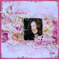 """""""Live Laugh Love"""" by Cathy for Kaisercraft 'All that Glitters' collection ~ Scrapbook Pages 3."""