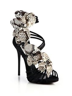 Giuseppe Zanotti Heels for Women Caged Sandals, Strappy Sandals Heels, Shoes Heels, Strap Sandals, Giuseppe Zanotti Heels, Zanotti Shoes, Fancy Shoes, Me Too Shoes, Weird Shoes