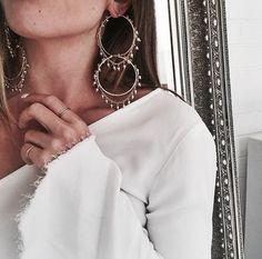 double hoop earrings  jewellery