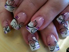 Beautiful nail art designs that are just too cute to resist. It's time to try out something new with your nail art. Funky Nail Art, Funky Nails, Nail Art Diy, Diy Nails, Nail Art Designs, Fingernail Designs, Acrylic Nail Designs, Fabulous Nails, Gorgeous Nails
