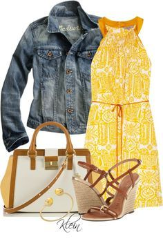 """Yellow Dress"" by stacy-klein on Polyvore"