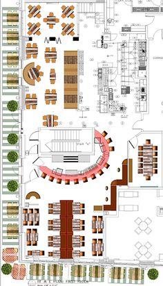 Restaurant Design Restaurant Designer Raymond HaldemanRestaurant Grundrisse / R Cafe Floor Plan, Restaurant Floor Plan, Restaurant Layout, Floor Plans, Hotel Floor Plan, Restaurant Restaurant, Flat Design, Café Design, Design Studio