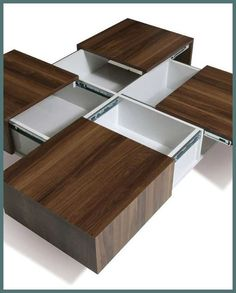 Tips to Choosing the Best Coffee Table Furniture - Life ideas Coffee Table Furniture, Folding Furniture, Space Saving Furniture, Furniture Decor, Furniture Design, Furniture Layout, Modern Furniture, Modern Square Coffee Table, Cool Coffee Tables