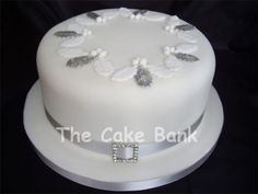 Image result for simple white christmas cake