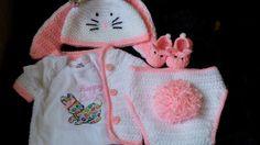 Crochet Easter Bunny Diaper Set by LEACreations on Etsy, $50.00