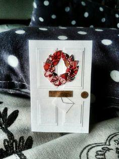 Christmas door card - my own card creation