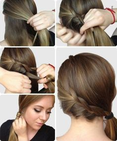 Braided side ponytail tutorial- such cute and easy hairstyles! Ponytail Hairstyles Tutorial, Ponytail Tutorial, Super Easy Hairstyles, Cute Simple Hairstyles, Hairstyles For School, Cute Hairstyles, Braided Hairstyles, Hairstyle Ideas, Elsa Hairstyle