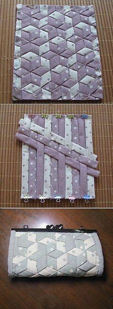 Лоскутное шитьё - очень легкий принцип.