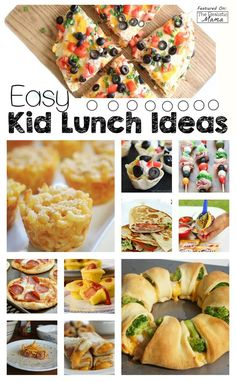20 Easy Lunch Ideas for Kids: This came at the perfect time! I used to get stuck on lunch recipes but now lunch is easy (and yummy) everyday. The kids loved all of these!!