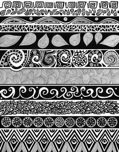 Black & White Illustrations - Pom Graphic Design