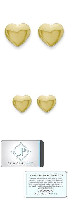 Earrings 14K Yellow Gold Heart Love Kids Baby Children S Stud