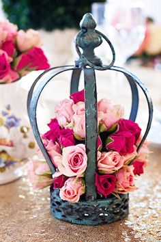 Pink and red roses | Blue Rock Photos | see more on: http://burnettsboards.com/2015/05/alice-wonderland-tea-party-styled-wedding/