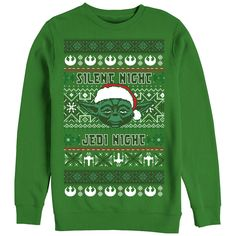 #Christmas Additional recommended Star Wars Men's Ugly Christmas Sweater Yoda Silent Night Kelly Green Sweatshirt for Christmas Gifts Idea Store . As soon as searching for some sort of Christmas products, no matter if it's for the puppy — often there is in which buddy, colliege or relative. Although also from in which, discovering excellent p...