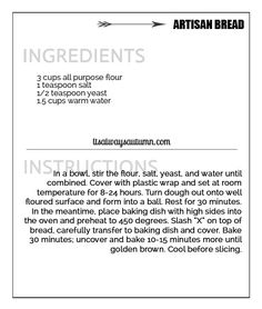 how-to-make-artisan-bread-easy-recipe-easiest-five-5-minutes-4-ingredients-recipe-card
