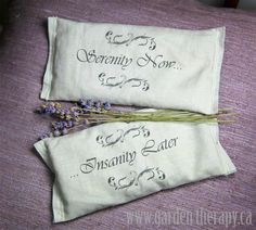 DIY:  How to Make Lavender Eye Pillows - using lavender, popcorn and fabric scraps. This post also shows how to print on fabric - via Garden Therapy