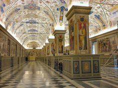 Salone Sistino della Biblioteca Vaticana ◆Città del Vaticano - Wikipedia http://it.wikipedia.org/wiki/Citt%C3%A0_del_Vaticano #Vatican