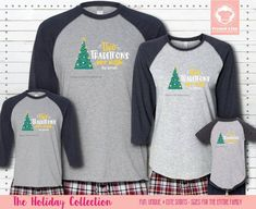 Our Matching Christmas Pajamas and Matching Hanukkah Pajamas are perfect for those who celebrate both holidays. These come in raglan sleeves and personalized for the entire family! #matchingchristmaspajamas #christmaspajamas #familychristmaspajamas #polarexpresspajamas #christmas #holidaypajamas #christmasgift #christmasphotoideas #pajamas #personalizedpajamas #christmas2020 #christmas #pressed4fun #p4f #fununiquecute #holidaypartyoutfit #holidaygift #holidaypartyideas #holidayparty Matching Christmas Pajamas, Family Christmas Pajamas, Holiday Pajamas, Christmas Shirts, Polar Express Pajamas, Personalized Pajamas, Holiday Party Outfit, Cute Pajamas, Raglan Shirts