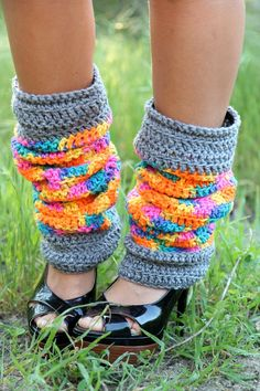 crochet leg warmers (have you thought of making for yourself?)