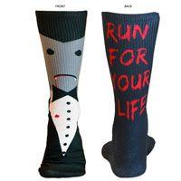 Lacrosse Sublimated Mid Calf Socks Vampire Cartoon. Fun Halloween Socks for Lax Girls! LuLaLax.com