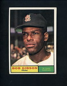 1961 Topps # 211 Bob Gibson EX condition St. Louis Cardinals