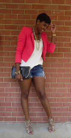 The website to view fashionable & stylish black girls Share a look with a friend! Short Outfits, Summer Outfits, Casual Outfits, Cute Outfits, Passion For Fashion, Love Fashion, Womens Fashion, Looks Chic, Black Girls