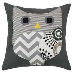 Bring a touch of charm to your sofa or favorite reading nook with this endearing pillow, featuring a patchwork owl motif.      Product...