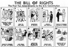 Bill of Rights - First Ten Amendments to the US Constitution. The bill of rights is important to society. How're these important still today and what laws relate to them. 4th Grade Social Studies, Social Studies Classroom, History Classroom, Teaching Social Studies, History Teachers, Social Studies Notebook, Teaching American History, American History Lessons, Teaching History